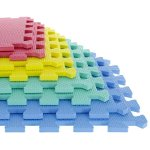 8-piece Stalwart Foam Mat Floor Tiles Interlocking EVA Foam Padding