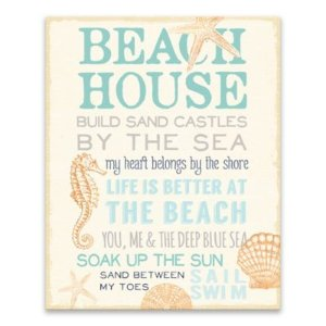 Beach House Printed Canvas Wall Art