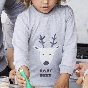 Gray 'Baby Deer' Christmas Jumper