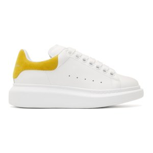 White & Yellow Oversized Sneakers