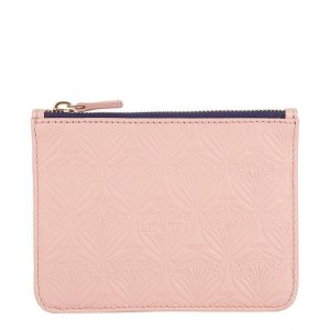 Embossed Leather Iphis Coin Pouch
