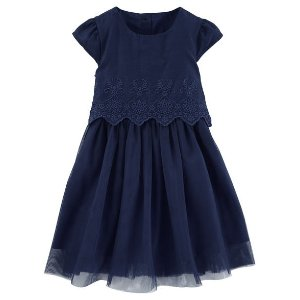 Two-Tier Eyelet Tulle Dress
