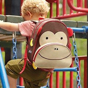$12.99 (原价$20)Skip Hop 可爱儿童动物背包,猴子、猫头鹰补货