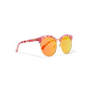 Gentle Monster Deborah cat-eye gold-tone and acetate mirrored sunglasses