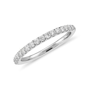 Pavé Diamond Ring in 18k White Gold - H / VS2 (1/3 ct. tw.) | Blue Nile