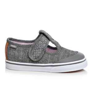 Vans Infant Leena Velcro Girls 4-10 Chambry/Bk/Tan | Shoe Carnival