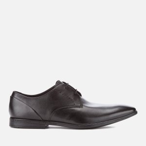 Clarks Men's Bampton Lace Leather Derby Shoes - Black - FREE UK Delivery