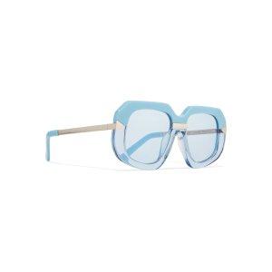Hollywood Creeper square-frame acetate and metal sunglasses | Karen Walker