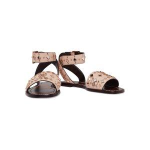 Kingsbridge studded leather sandals | Tory Burch