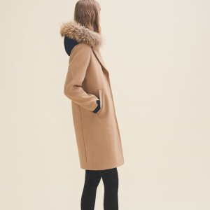 GASBY Long coat in wool and cashmere