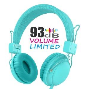 $12Kids Headphones,HD850 Volume Limiting Headphones with SharePort and Microphone