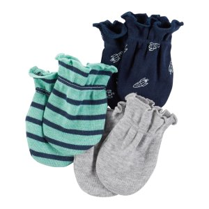 Baby Boy 3-Pack Mittens | Carters.com