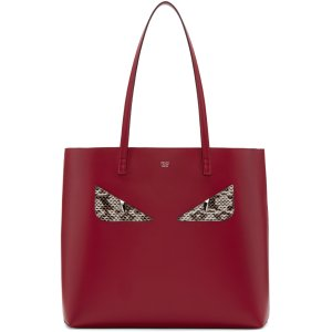 Fendi: Red Eyes Roll Tote | SSENSE