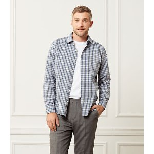 Grant End On End Check Point Collar Shirt - JackSpade