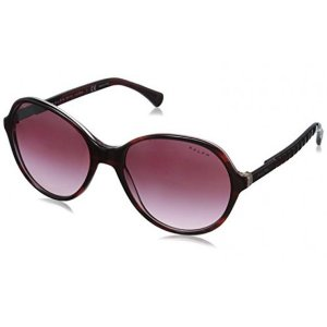 Burgundy RA5187 Prescription-Ready Sunglasses with 100% UV Protection and Burgundy Frame from Ralph Lauren | Focus Camera