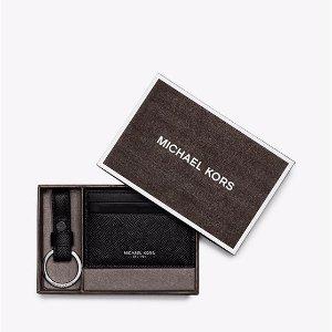 $39.2 (原价$98)Michael Kors 皮质卡包和钥匙扣礼品盒