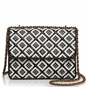 Tory Burch Robinson Woven Quilted Convertible Shoulder Bag | Bloomingdale's