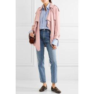 Burberry | Draped slub silk jacket