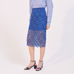 Straight Floral Lace Skirt - Skirts - Sandro-paris.com