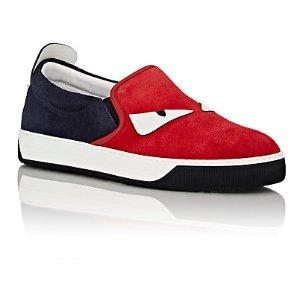 Fendi Spiked Buggies Slip-On Sneakers | Barneys New York