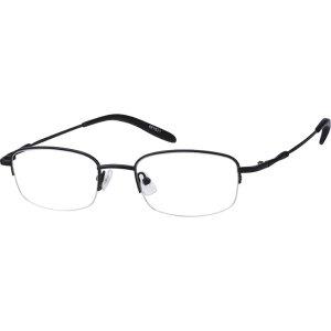 Black Lightweight Metal Rectangular Eyeglasses #4618 | Zenni Optical Eyeglasses