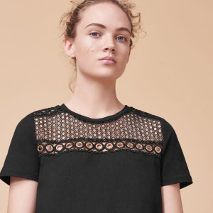 TOBY Embroidered cotton T-shirt - Tops & T-Shirts