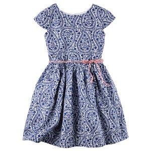 Toddler Girl Sateen Paisley Dress | Carters.com