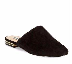 $79.99(原价$129)!Karl Lagerfeld 黑色简约穆勒鞋