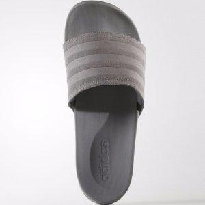 $18Adidas 经典款男士灰色拖鞋 断码热卖