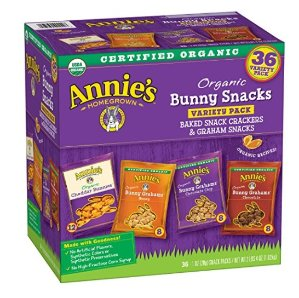 $7.59Annie's Organic Variety Pack, Cheddar Bunnies and Bunny Graham Crackers Snack Packs, 36 Pouches, 1 oz Each