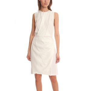 3.1 Phillip Lim Sleevless Drape Wrap Dress | Blue&Cream