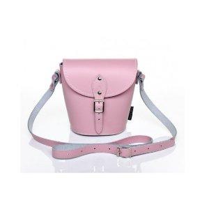 Zatchels Pastel Pink Leather Barrel Bag | Unineed | Premium Beauty