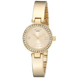 Juicy Couture Women's 1901236 Luxe Couture Gold-Tone Watch