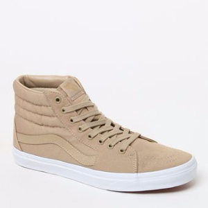 Vans Mono Canvas Sk8-Hi Khaki & White Shoes at PacSun.com