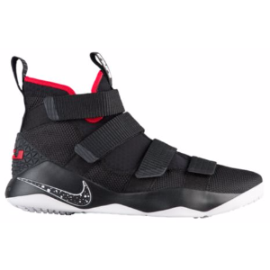 Nike LeBron Soldier 11 - Men's - Basketball - Shoes - James, LeBron - Black/White/University Red