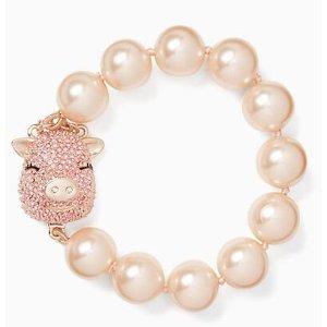 imagination pearl pig bracelet