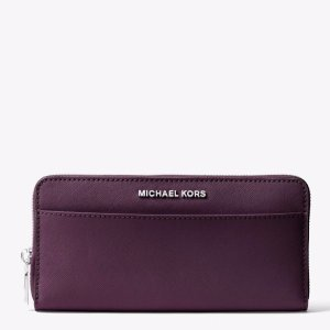 Jet Set Saffiano Leather Continental Wallet