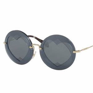 Miu Miu Round Layered Heart Sunglasses