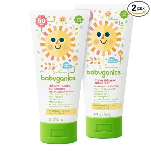 Amazon.com: Babyganics Mineral-Based Baby Sunscreen Lotion, SPF 50, 6oz Tube (Pack of 2): Health & Personal Care