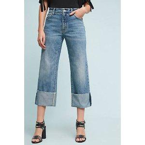 Pilcro Folio Ultra High-Rise Cuffed Jeans | Anthropologie