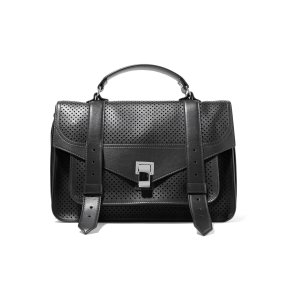 The PS1 medium perforated and smooth leather shoulder bag | Proenza Schouler