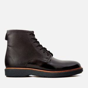 Clarks Men's Modur Hi Leather Lace Up Boots - Black - FREE UK Delivery