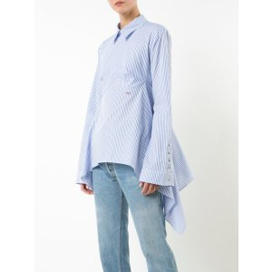 Off-White Striped Open Back Shirt
