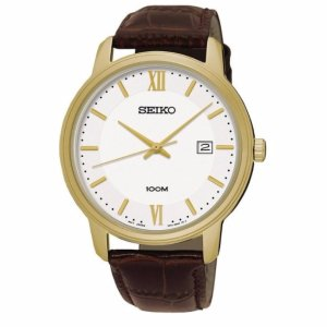 Seiko Mens Leather Watch SUR202 Sale