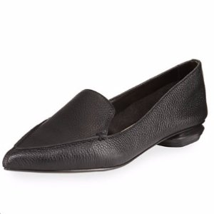 Neiman Marcus Pebbled Pointed-Toe Loafer @ Neiman Marcus Last Call