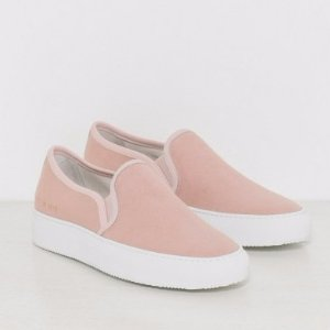 Woman by Common Tournament Slip On Canvas in Blush