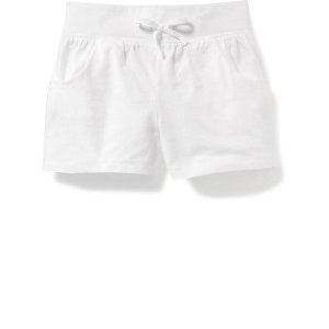 Shirred Jersey Shorts for Toddler Girls