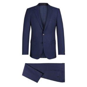 Striped Virgin Wool Blend 3-Piece Suit, Slim Fit | Hutson/Gander WE
