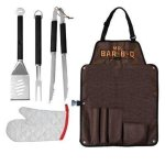 Mr.BarBQ 5-Piece Barbecue Tool Set with Apron Case