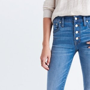 Cali demi-boot jeans: chewed-hem edition @ Madewell